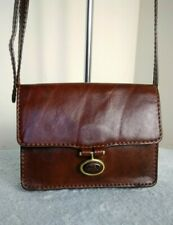 The Bridge Italian Leather Brown Mini Bag Shoulder Cossbody Handbag N39