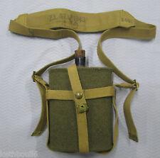 WW2 Canadian. Aussie issue water bottle carrier web set 1943