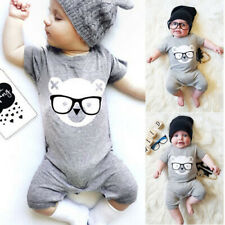 Newborn Kids Baby Girl Boy Cute Bear Romper Jumpsuit Playsuit Infant Clothes Set