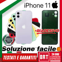 VETRO+BIADESIVO BACK COVER SCOCCA POSTERIORE per APPLE IPHONE 11 RETRO HOUSING!!