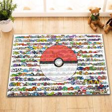 Home Area Rug Pokemon Ball Room Floor Carpet Non-skid Bath Kitchen Door Mat