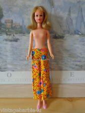 Vintage Barbie Francie Doll Sunny Slacks #1716 Yellow Slacks Twiggy Casey