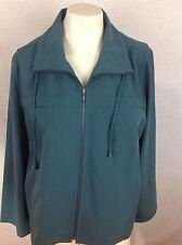 8aba70f4c18 Women s TravelSmith Jacket Green Medium Full Zip