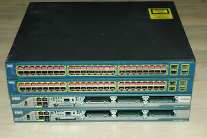Cisco CCNA CCNP CCIE Lab Kit 2x 2801 Routers 2x 3560-48 Switch Guiding DVD