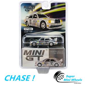 CHASE ! Mini GT 1:64 Mercedes-Benz 190E 2.5-16 Evolution II #5 (Silver) #196