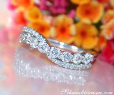 Überkreuzter Band Ring mit Brillanten in Weißgold 750, 0.74 ct. W/TW SI ab 2600€