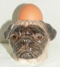 Quail Ceramics Pug With Egg Cup Fawn 663