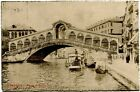 1903 Venezia Ponte Di Rialto Gondole Battello Passanti Canale FP B/N VG ANIM