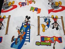 Mickey Mouse Clubhouse Twin Top Flat Sheet Donald Duck Goofy Cotton Blend Smiles