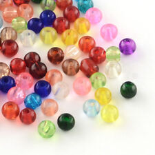 100 Crackle Glass Beads 4mm Mixed Colours Jewellery Making Crafts P00119xg