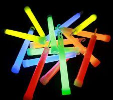 50 x 6 INCH ASSORTED GLOW STICKS W/LANYARD BULK PARTY RAVE LIGHT GLOW IN DARK