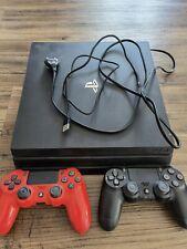 Sony PlayStation 4 Slim 1000GB Mattschwarz Spielekonsole 2 Controller