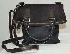 Maurizio Taiuti Italy Brown Foldover Genuine Leather Calf Hair Bag