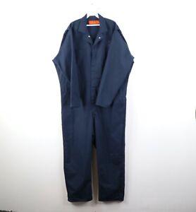 Vintage 90s Rockabilly Mens 50 Regular Work Mechanic Coveralls Jumpsuit Blue