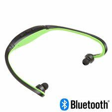 Cuffia Wireless Senza filo BLUETOOTH Sport Audio Auricolari per SMARTPHONE  Verde a305a578558c