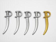 Playmobil Espada Sword Médiévale Pirate Western - Épées Sabres Gris Or AC1638