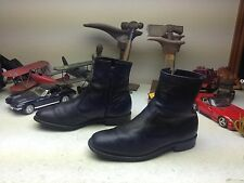 DISTRESSED GOODYEAR MADE IN USA VINTAGE BLACK LEATHER ZIP UP ANKLE BOOTS 9.5 EE