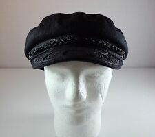 Dorfman Pacific Scala Classics Nautical Marine Greek Fisherman Black Cap Hat XL