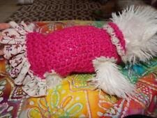 Small BRUSHED SILK FUCHIA dress with bouncy ruffle skirt