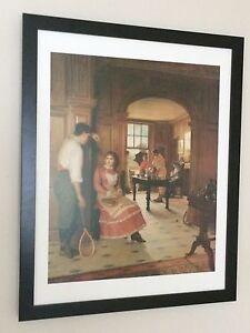 Summer Shower - Edith Hayliar print - 20''x16'' frame, victorian wall art