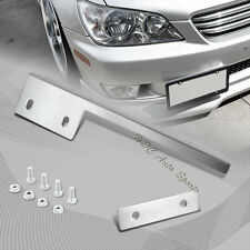 For Toyota Mazda Chrome Aluminum Front License Plate Mount Relocate Bracket Bar