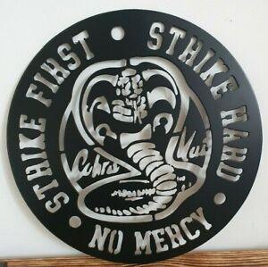 Cobra Kai Sign Karate Kid Quote Wall Art Gift Personalised Strike hard Logo