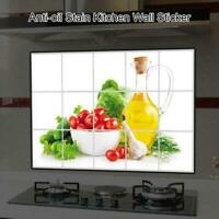 Anti-oil Waterproof  Stain Self-adhensive PVC Kitchen Wall Paper Stickers Decals