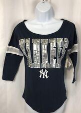 New York Yankees MLB Women's 3/4 Length Sleeve T-Shirt Size XS