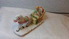 Christmas Tree Ornament 1987 geo7 Lefton 06460 Sleigh Ride