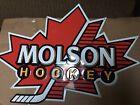 """Molson Ice Hockey Tin Beer Bar Sign - 34""""x24"""" (inches) Canada"""