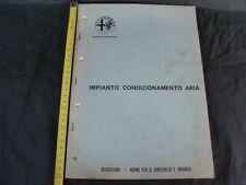 MANUALE ORIGINALE CATALOGO ALFA ROMEO IMPIANTO CONDIZIONAMENTO ARIA 1972 GIULIA