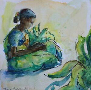 Fiona Goldbacher - Important British artist - Study of a lady