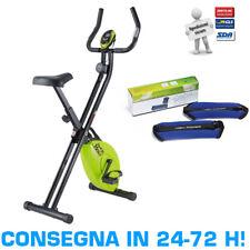 EVERFIT BFK SLIM Bike Cyclette Pieghevole Salvaspazio + Coppia Cavigliere da 1kg