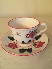 Mason's CHRISTMAS VILLAGE Cup and Saucer Made In England!