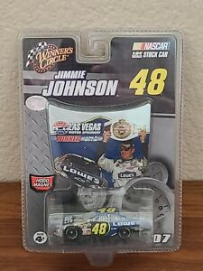 2007 #48 Jimmie Johnson Lowe's Las Vegas Win 1/64 Winner's Circle NASCAR Diecast