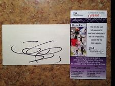 Lucy Lawless  SIGNED CARD JSA SPENCE 100% CERTIFIED AND AUTHENTIC