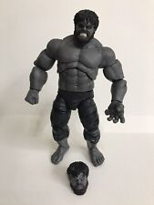 "Custom Marvel Legends Grey Hulk 6"" 8� Retro Exclusive 80th Anniversary Baf"