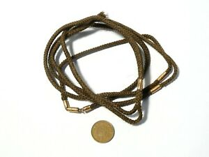 19thC Woven Real Hair Mourning Necklace Longguard Mounted Templeville Ireland