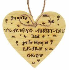 Best Teaching Assistant Gift Handmade Oak Wood Heart TA Thank You Gifts