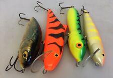 Lot of 4 Salmo Fatso Skinner Maas Marauder Whitefish Muskie Fishing Lures