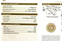 GIA loose certified .40ct SI2 U-V Light Brown round brilliant diamond estate