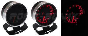 60mm Electronic Oil Temperature Gauge - Red Backlit Defi/JDM Style