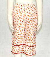 JACADI Girl's Margine Cute Multi-Color Floral Capri Bottoms Sz 8 Years NWT $54