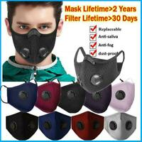 Face Msak Washable Reusable PM2.5 Anti Air Pollution Respirator Mask Filters Lot
