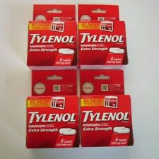 TYLENOL EXTRA STRENGTH Acetaminophen 6 Caplet GO PACK 500 mg 4 Boxes SEALED 2023