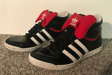 ADIDAS SLEEK SERIES BLACK HIGH TOP TRAINERS WOMENS ~ UK 4 MINNIE MOUSE BOW