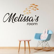 Custom Name Melissas Room Wall Decal Decor Sticker Vinyl Lettering COLORS MS1177