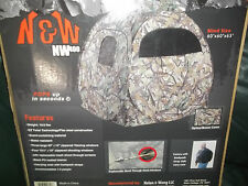 N&W 400 60'x60'x65' Turkey Illusion Camo ARCHERY POPUP Blind New