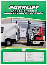 Forklift Safety Check and Maintenance Logbook Log Book