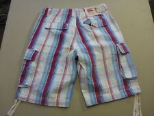 057 MENS EX-COND CANTERBURY OF NEW ZEALAND WHT / BLUE CARGO SHORTS 30 $100 RRP.